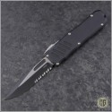(#GT-93212) Guardian Tactical Recon-035 Two-Tone Black S/E Serrated - Front