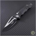 (#GUA-42211) Guardian Tactical Mini Helix F/A Carbon Fiber Handle S/E Black and Satin Blade - Front