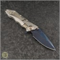 (#GUA-Helix-C2) Guardian Tactical Custom Helix Nano Titanium w/ Blued Damascus - Back