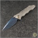 (#GUA-Helix-C2) Guardian Tactical Custom Helix Nano Titanium w/ Blued Damascus - Front
