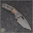 (#H011-TI-3A-CS) Heretic Knives Geared Cinder Scarred Martyr Auto T/E Double Blast - Back
