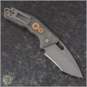 (#H012-TI-3A-CS) Heretic Knives Geared Cinder Scarred Martyr Auto Recurve Double Blast - Back
