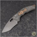 (#H012-TI-3A-CS) Heretic Knives Geared Cinder Scarred Martyr Auto Recurve Double Blast - Front
