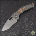 (#H012-TI-3A-DB) Heretic Knives Geared Martyr Auto Recurve Double Blast - Front