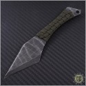 (#HER-Chimera-ODGreen) Heretic Knives Chimera Neck Knife w/ OD Green cord - Front