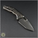 (#HER-DLC) Heretic Knives DLC Titanium Auto Martyr Black Plain - Back