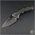 (#HER-DLC) Heretic Knives DLC Titanium Auto Martyr Black Plain - Front
