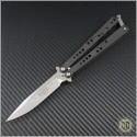 (#HG-0037) Microtech Dragonfly Stonewash Plain - Front