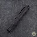 (#HG-0102) Microtech Navy Scarab S/E Black Plain Tactical w/ Blue Tridium - Additional View