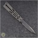 (#HG-0115) Microtech Tachyon Black Plain - Back