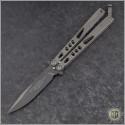 (#HG-0115) Microtech Tachyon Black Plain - Front