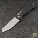 "(#HO-EX-A04-34426) Hogue Knives Wharncliffe 3.5"" Black Plain w/ Black Aluminum Handle - Front"