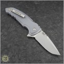 (#HO-X1-Micro-GR) Hogue X1-Micro (24172) - Tumbled Plain Blade, Matte Grey Handle - Back