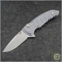 (#HO-X1-Micro-GR) Hogue X1-Micro (24172) - Tumbled Plain Blade, Matte Grey Handle - Front