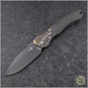 (#HTK-H000-CF-Ti-6A) Heretic Knives Wraith Auto DLC w/ CF Handle Ti Bolster - Front