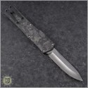 (#HTK-H014-DAM-CF2) Heretic Knives Cleric S/E Damascus w/ Carbon Fiber Cover - Back