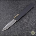 (#HTK-H014-DAM-CF2) Heretic Knives Cleric S/E Damascus w/ Carbon Fiber Cover - Front