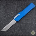 (#HTK-H015-2A-BL) Heretic Knives Cleric OTF Tanto Stonewash w/ BlueHandle - Front
