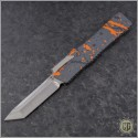 (#HTK-H015-2A-OS) Heretic Knives Cleric T/E Orange Splash Handle - Front