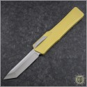(#HTK-H015-2A-TA) Heretic Knives Cleric OTF Tanto Stonewash w/ Tan Handle - Front