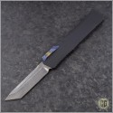(#HTK-H015-DAM-CF1) Heretic Knives Cleric T/E Damascus w/ Carbon Fiber Cover - Front