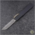 (#HTK-H015-DAM-CF2) Heretic Knives Cleric T/E Damascus w/ Carbon Fiber Cover - Front