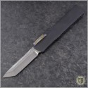 (#HTK-H015-DAM-CF5) Heretic Knives Cleric T/E Damascus w/ Carbon Fiber Cover - Front