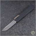 (#HTK-H015-DAM-CF) Heretic Knives Cleric T/E Damascus w/ Carbon Fiber Cover - Front