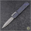 (#HTK-H016-2A-PS) Heretic Knives Cleric D/E Purple Splash Handle - Front