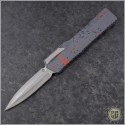 (#HTK-H016-2A-RS) Heretic Knives Cleric D/E Red Splash Handle - Front
