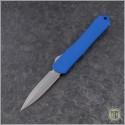 (#HTK-H024-5A-BL) Heretic Knives Blue Manticore-S D/E Battleworn - Front