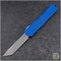 (#HTK-H031-5A-Blue) Heretic Knives Blue Manticore-X T/E Battleworn - Front