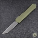 (#HTK-H031-5A-GR) Heretic Knives Green Manticore X T/E Battleworn - Front