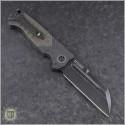 (#HTK-H034-4A-BR) Heretic Knives Auto Butcher Black Plain - CF Handle w/ Bronzed Ti - Back