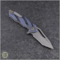 (#HTK-H036-2A-B) Heretic Knives Tenshi Prototype Blue Ti - Back