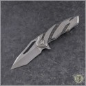 (#HTK-H036-2A-Ti) Heretic Knives Tenshi Prototype Tumbled Ti - Front