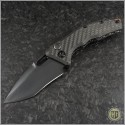 (#HTK-MAR-CU) Heretic Knives Carbon Fiber Auto Martyr w/ Copper Backstrap - Front