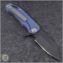 (#MK001DPQ-37A2) Medford Knife & Tool 187F Drop Point - Blue Ti - Back