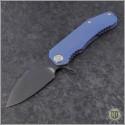 (#MK001DPQ-37A2) Medford Knife & Tool 187F Drop Point - Blue Ti - Front