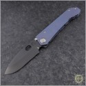 (#MK002DPQ-37A2) Medford Knife & Tool 187DP Drop Point - Blue Ti - Front