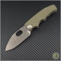 (#MKT-187RMP-002) Medford Knife & Tool 187RMP - Black PVD - OD Green G10 Handle - Front