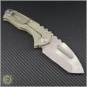 (#MKT-PRAT-008) Medford Knife & Tool Praetorian T Tanto (Tumbled Stainless) - Back