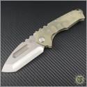 (#MKT-PRAT-008) Medford Knife & Tool Praetorian T Tanto (Tumbled Stainless) - Front