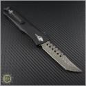 (#MTC-0205) Marfione Custom Combat Troodon Hellhound Tanto Spirograph Damascus - Back