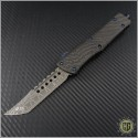 (#MTC-0205) Marfione Custom Combat Troodon Hellhound Tanto Spirograph Damascus - Front