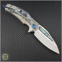 (#MTC-0217) Marfione Custom Matrix-R Titanium Abalone Inlay - Back