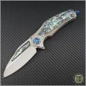 (#MTC-0217) Marfione Custom Matrix-R Titanium Abalone Inlay - Front