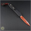 (#MTC-0226) Microtech Custom Ultratech LV Red D/E Fully Serrated CF Top w/ LV Bead - Back