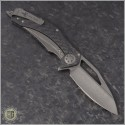 (#MTC-0258) Marfione Custom Mini Matrix - Carbon Fiber Handle - Apocalyptic Blade - Back
