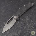 (#MTC-0258) Marfione Custom Mini Matrix - Carbon Fiber Handle - Apocalyptic Blade - Front